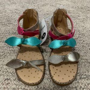 Cat & Jack Toddler Girl's Gold Darbi Sandals